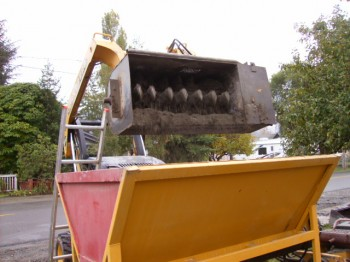 Shotcrete/Gunite Dry Mixer and hopper.